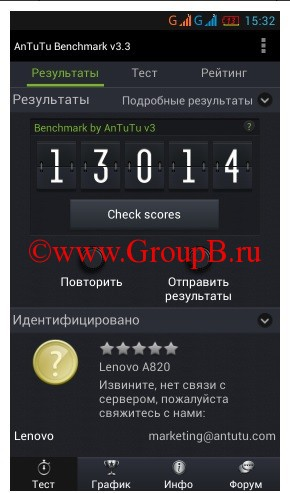 Lenovo A820 groupb.ru
