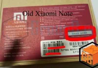 Xiaomi note fake