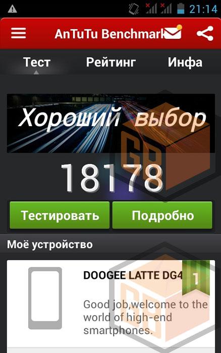 Doogee DG450 antutu