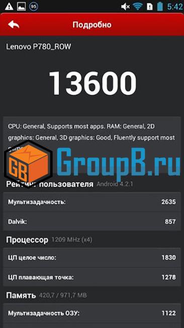 lenovop 780 антуту