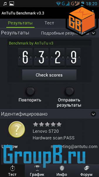 Lenovo s720 antutu