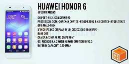 Huawei Honor 6 — 315,99+Silicon+screen