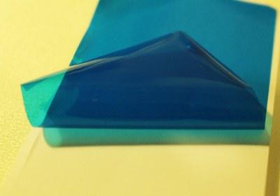 синяя бумажка с защитной пленкой