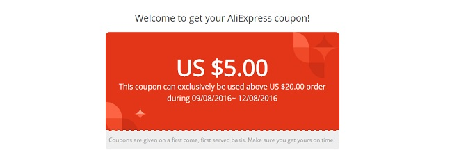 Aliexpress discount coupon code