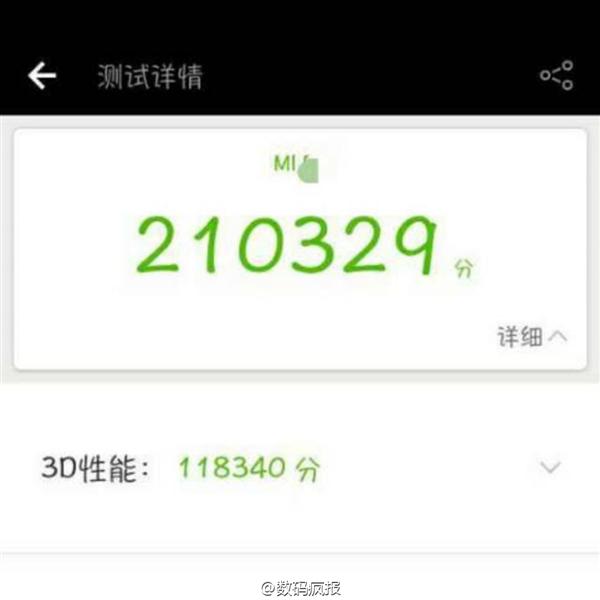 AnTuTu: Xiaomi Mi 6