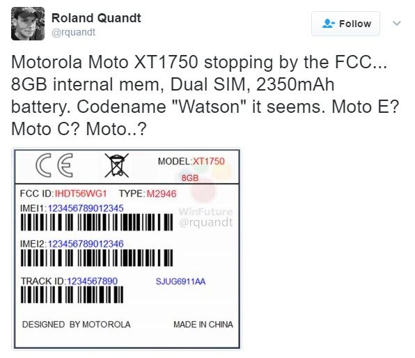 Moto XT1750 Watson