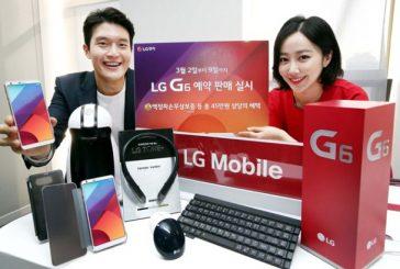 Количество предзаказов LG G6 достигло  40 000