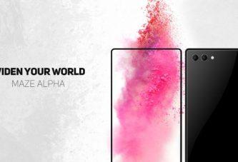 Новый безрамочный смартфон Maze Alpha