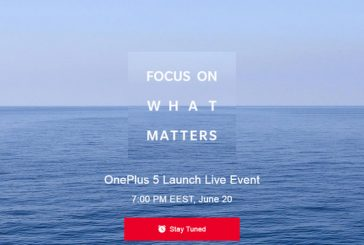 OnePlus 5 официально анонсирует 20 июня