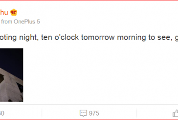 Генеральный директор OnePlus выложил фото OnePlus 5