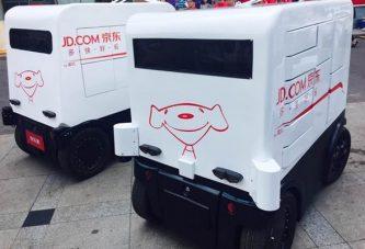 JD используют роботов для доставки товара