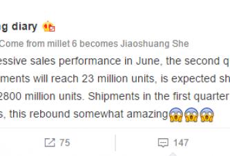 За второй квартал Xiaomi продали 20 млн смартофнов