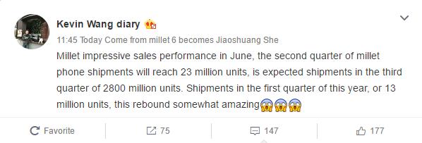 Xiaomi продали