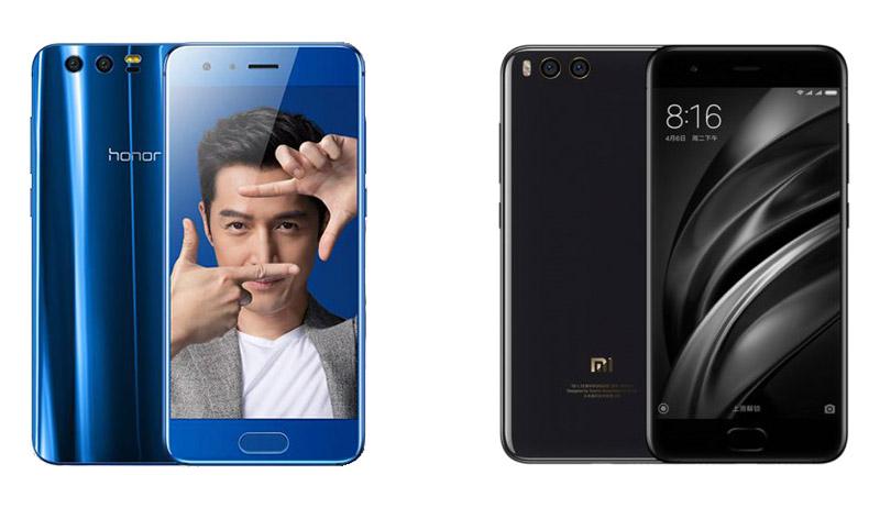 Huawei Honor 9 и Xiaomi Mi6