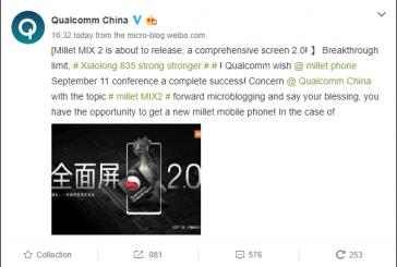 Xiaomi Mi Mix 2 получит Snapdragon 835