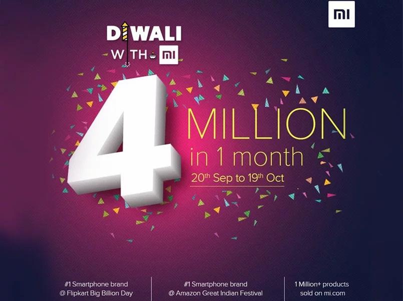 xiaomi india 4 million
