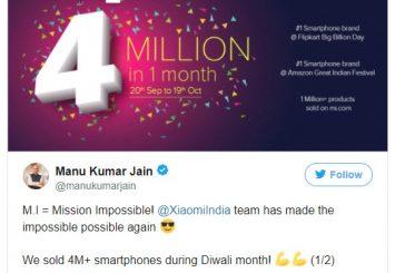 За 30 дней поставки Xiaomi превысили  4 млн смартфонов