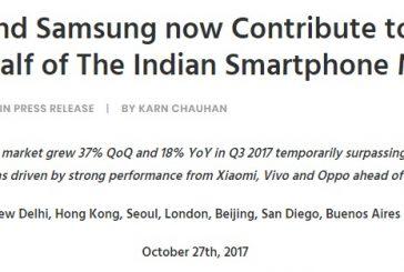 Xiaomi и Samsung лидеры индийского рынка смартфонов