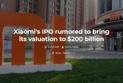Стоимость компании Xiaomi оценивают в 200 млрд долларов