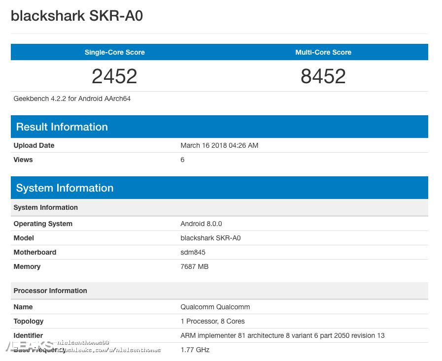 Xiaomi Blackshark mi mix 2s