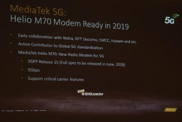 MediaTek анонсировала 5G модем под названием Helio M70