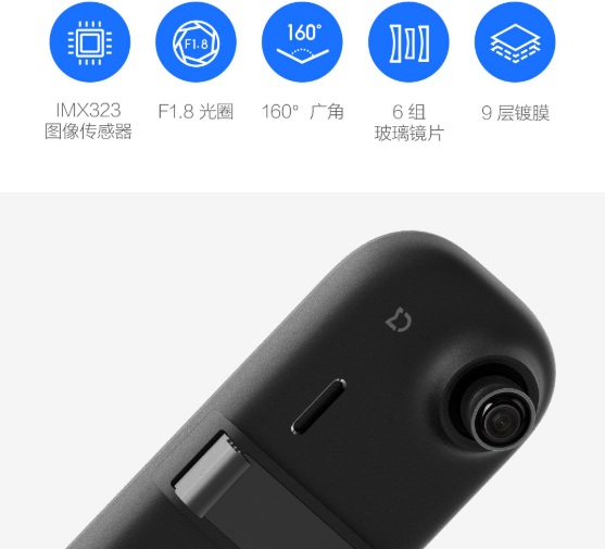 Xiaomi column 2 mirror dvr