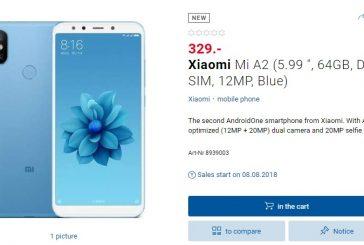 Xiaomi Mi A2 поступит в продажу 8 июля